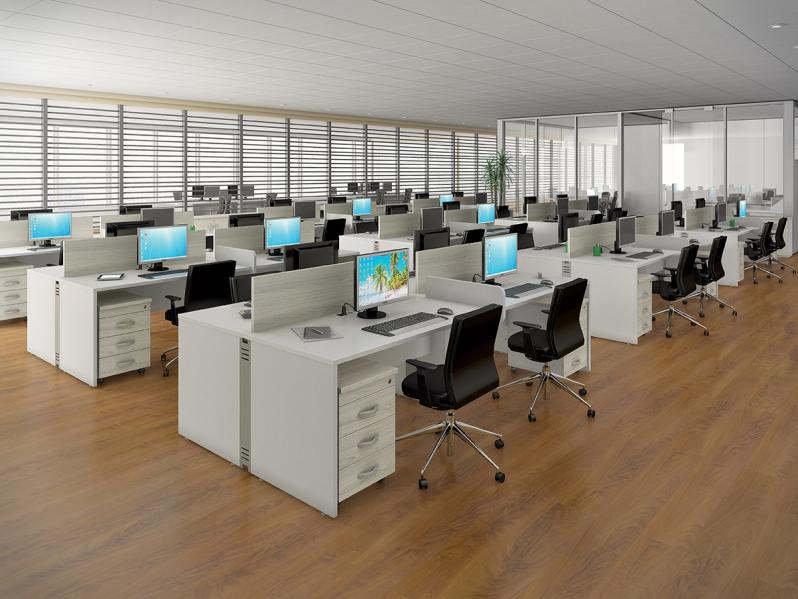 Estação de Trabalho para Escritório Preço no Grajau - Estação de Trabalho 6 Lugares