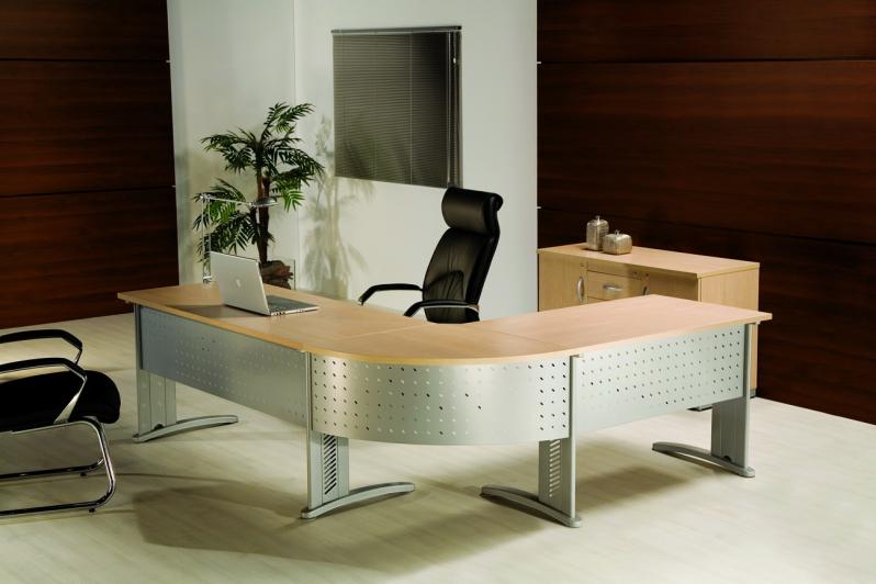 Onde Encontrar Mesas para Escritório em L em Glicério - Mesas para Escritório