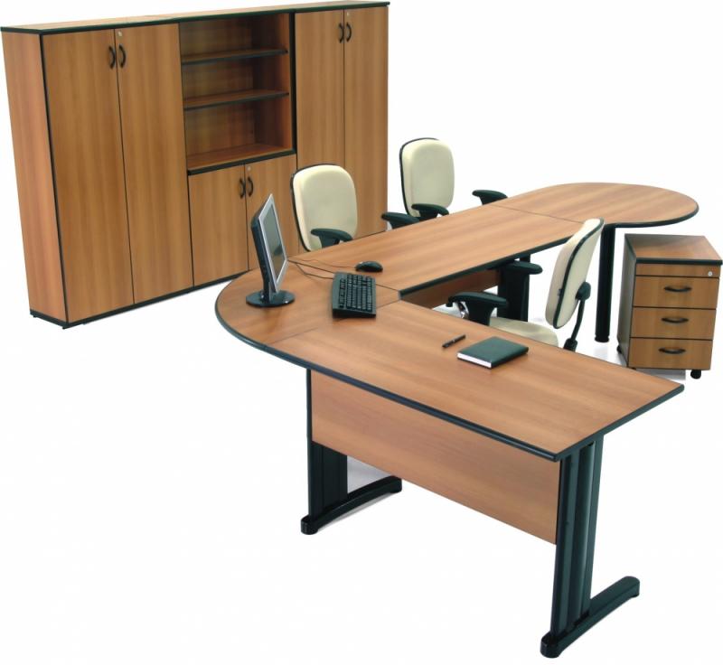 Mesa para escrit rio em l display m veis for Mesa escritorio l
