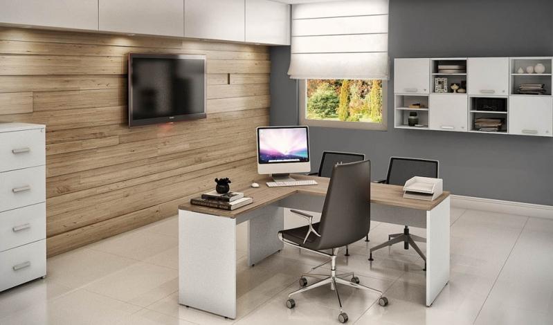 Quanto Custa Mesas para Escritório em L na Boa Vista - Mesas para Escritório