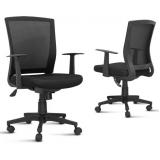cadeira para escritório com encosto em tela no Residencial Quatro