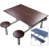 conjunto de mesa e cadeiras para refeitório em Perus