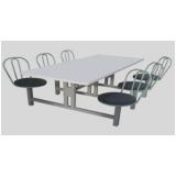 conjunto de mesas e cadeiras para refeitório na Vila Medeiros