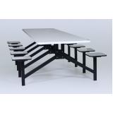 conjuntos de mesa e cadeiras para refeitório no Brás