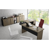 mesa para escritório em formato de l preço no Parque dos carmargos