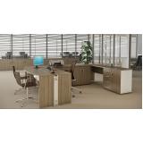 mesa para escritório em formato de l no Parque São Lucas
