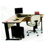 mesa para escritório em l pequena preço no Cursino
