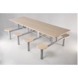 conjunto de mesa e cadeiras para refeitório