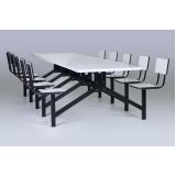 mesas e cadeiras para refeitórios industriais no Jardim América