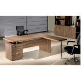 mesa para escritório em formato de l