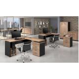 mesa para escritório em l pequena