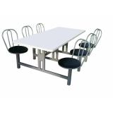 onde encontrar conjunto de mesa e cadeiras para refeitório na Vila Esperança