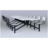 onde encontrar conjunto de mesas e cadeiras para refeitório na Vila Buarque