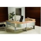 onde encontrar mesa para escritório em l com gavetas no Residencial Onze