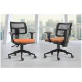 quanto custa cadeira para escritório com encosto em tela no Jardim Silveira