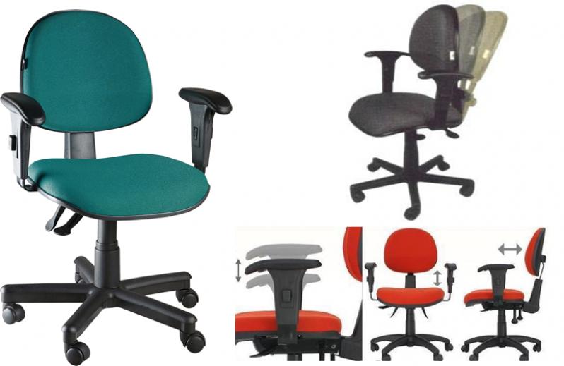 Cadeira para Escritório Ergonômica Preço no Jardim Ângela - Cadeira para Escritório com Encosto em Tela