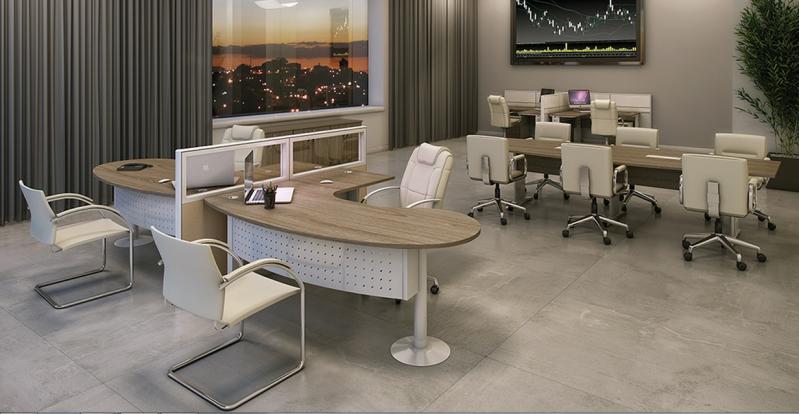 Estação de Trabalho para Escritório no Residencial Sete - Estação de Trabalho 6 Lugares