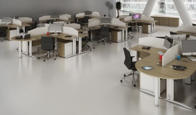 Estações de Trabalho Tipo Ilha em Aricanduva - Estação de Trabalho 6 Lugares
