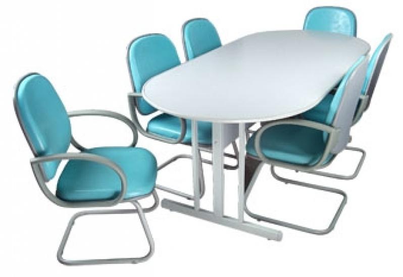 Mesa Oval para Escritório Preço no Jardins - Mesas para Escritório