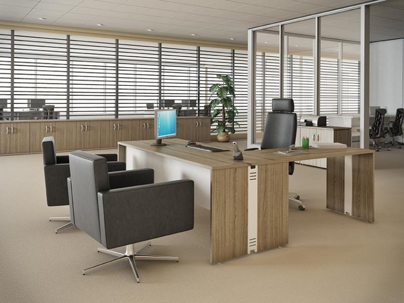 Mesas Retas para Escritórios no Residencial Onze - Mesas para Escritório