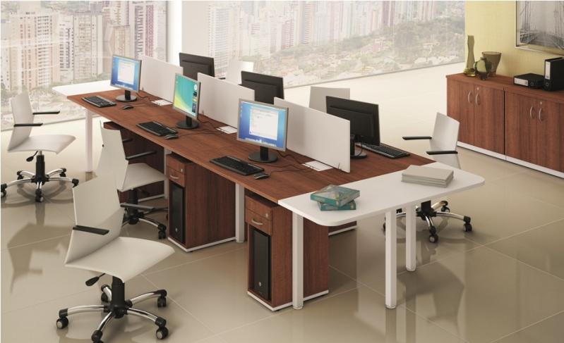 Onde Encontrar Estação de Trabalho Dupla em Pinheiros - Estação de Trabalho 6 Lugares