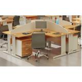 mesa para escritório com baia