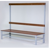 banco simples para vestiário com cabideiro no Jardins