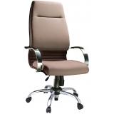 cadeira para escritório de couro preço em São Bernardo do Campo