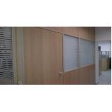 divisória para escritório de madeira no Belenzinho
