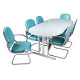 mesa oval para escritório preço no Jardim dos Camargos