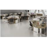 mesa para escritório com baia em Glicério