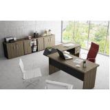 mesa para escritório em formato de l preço em Carapicuíba