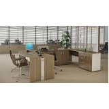 mesa para escritório em formato de l em Sumaré