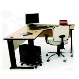 mesa para escritório em l pequena preço na boa vista