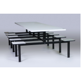 mesas e cadeiras para refeitório industrial no Belenzinho