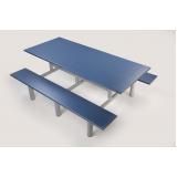 mesa para refeitório de obra