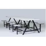 mesa para refeitório industrial