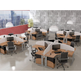 mesas para escritório com baia em Suzano