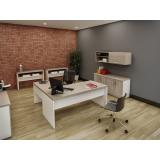 mesas para escritório em formato de l no Residencial Onze