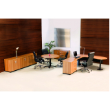 mesas para escritório em l preço em Brasilândia