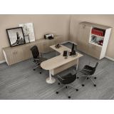 mesas para escritórios em l no Alphaville Residencial Dois